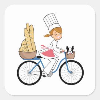 Pegatina del arte del cocinero de la bicicleta