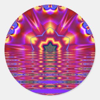 pegatina del arte del fractal de la