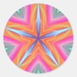 Pegatina del arte del fractal de la mandala de la