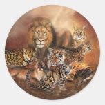 Pegatina del arte del gato grande
