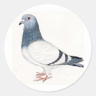 Pegatina del arte del pájaro de la paloma