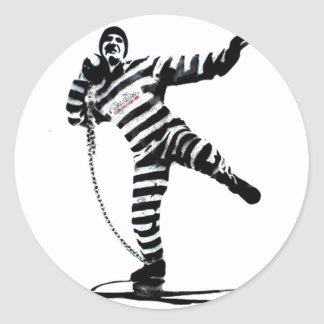 pegatina del arte pop del shotput del convict