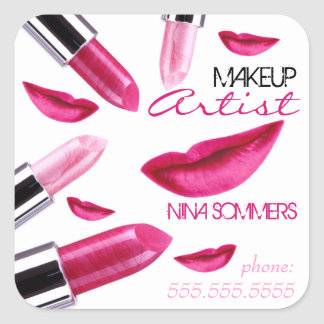 Pegatina del artista de maquillaje