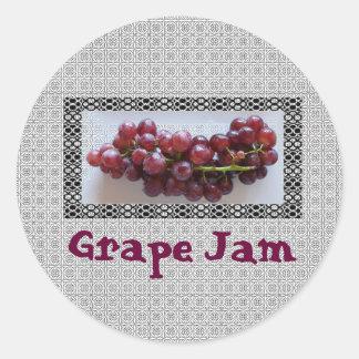 Pegatina del atasco de la uva