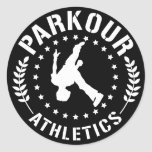 Pegatina del atletismo de Parkour