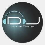 Pegatina del auricular de DJ