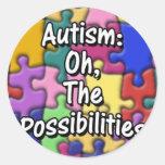 Pegatina del autismo