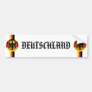 Pegatina del auto del fútbol de Alemania Deutschla Pegatina Para Auto
