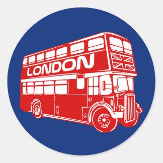 Pegatina del autobús de Londres