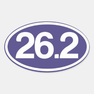 Pegatina del azul 26,2 (pegatina completo del