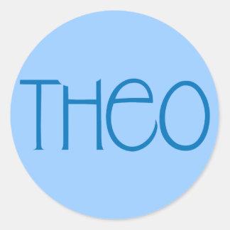 Pegatina del azul de Theo