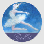 Pegatina del ballet del lago swan