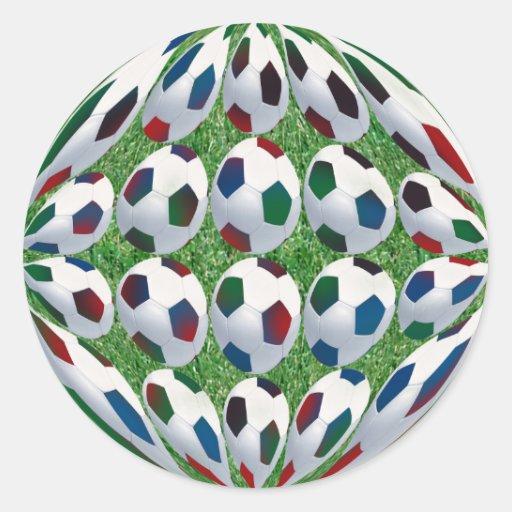 pegatina del balón de fútbol 3D