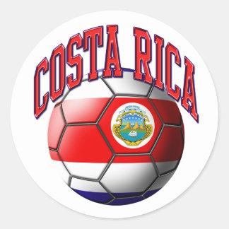 Pegatina del balón de fútbol de Costa Rica