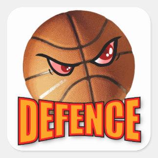 Pegatina del baloncesto de la defensa