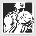 Pegatina del baloncesto de la pistola del tiro