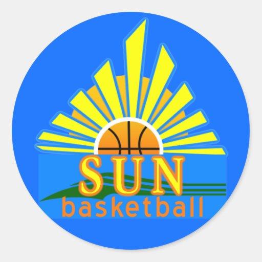 Pegatina del baloncesto de Sun