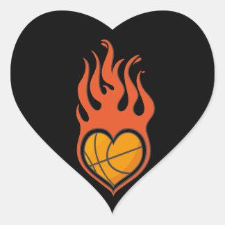 Pegatina del baloncesto del amor