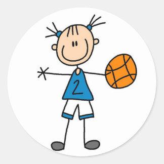 Pegatina del baloncesto del deporte