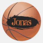 Pegatina del baloncesto del estilo del Grunge de J