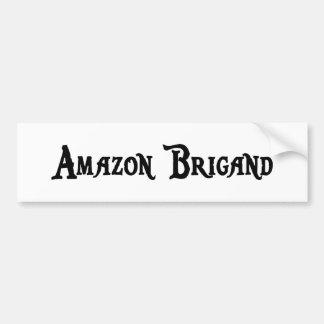 Pegatina del bandido del Amazonas Etiqueta De Parachoque