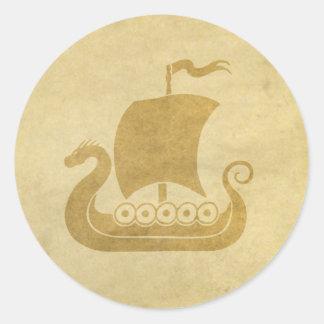 Pegatina del barco del dragón