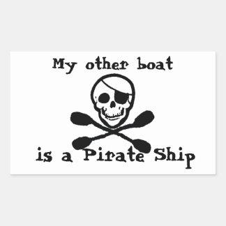 Pegatina del barco pirata de la paleta del kajak