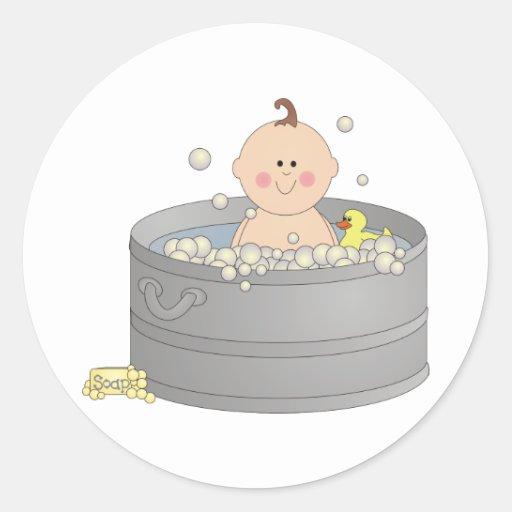 Pegatina del bebé de Bathtime