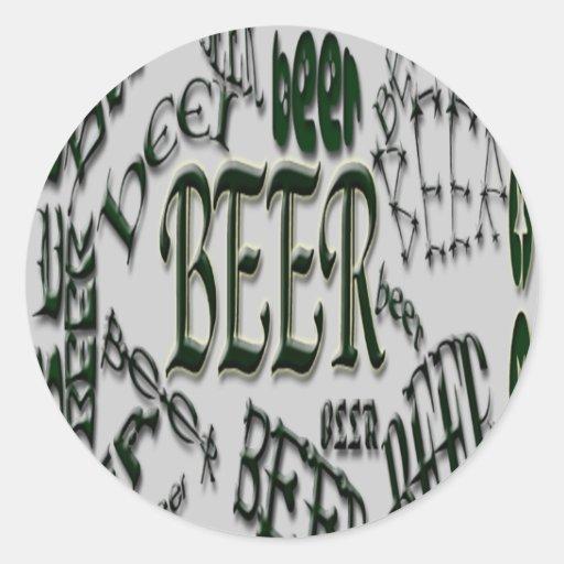 Pegatina del *bEeR*beer*BEER