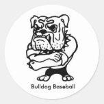 Pegatina del béisbol del dogo