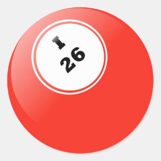 Pegatina del bingo I-26
