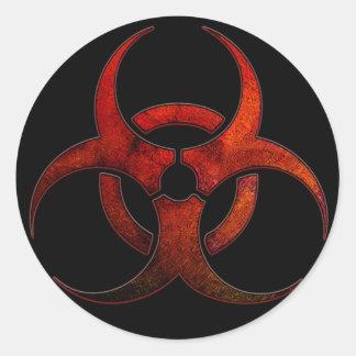 pegatina del Bio-peligro