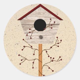 Pegatina del Birdhouse