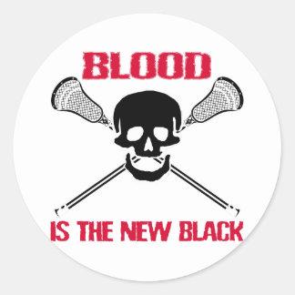 Pegatina del blanco de LaCrosse BlackBlood