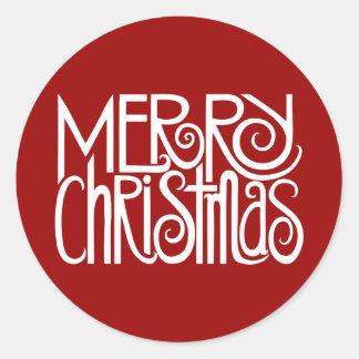 Pegatina del blanco de las Felices Navidad