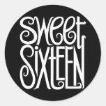 Pegatina del blanco del dulce dieciséis