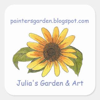 Pegatina del blog del jardín