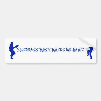 PEGATINA DEL BLUEGRASS MUSIC-BUMPER PEGATINA PARA AUTO