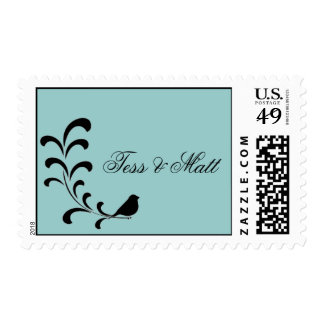 Pegatina del boda de la rama sellos postales