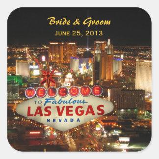 Pegatina del boda de la tira de Las Vegas