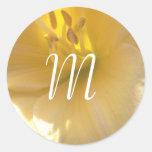 Pegatina del boda del monograma