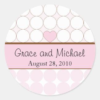 Pegatina del boda - personalizado