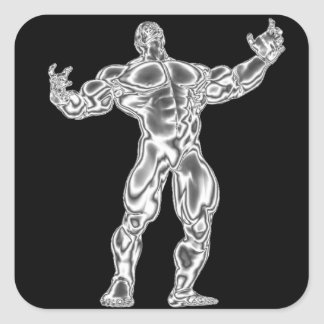 Pegatina del Bodybuilder del cromo