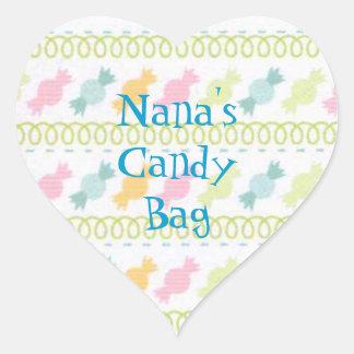Pegatina del bolso de la invitación del caramelo