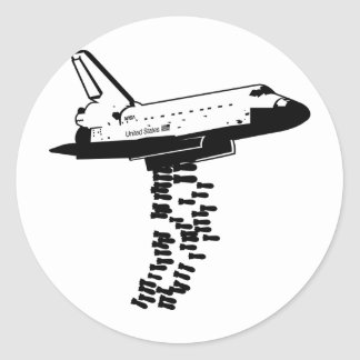 Pegatina del bombardero del transbordador espacial