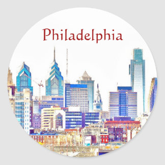 Pegatina del bosquejo del color de Philadelphia