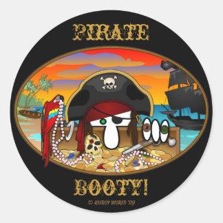 Pegatina del botín de Kilroy del pirata