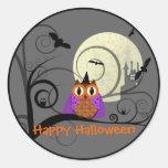 Pegatina del búho de Halloween
