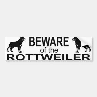 pegatina del bumber del rottweiler pegatina de parachoque