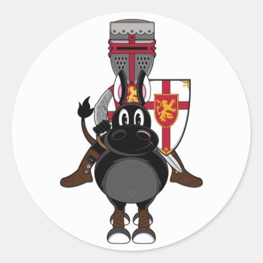 Pegatina del caballero del cruzado